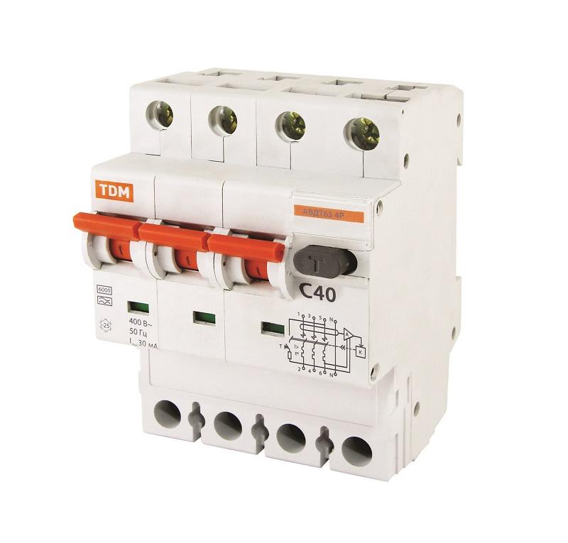 Дифференциальный автомат TDM-Electric АВДТ 63 B16 10мА SQ0202-0009 - фото 8