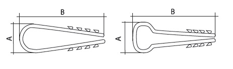 Дюбель-хомут ДХК-10 для круглого кабеля 5-10мм нейлон черный (100шт) TDM