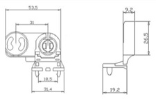 Патрон поворотный торцевой (крепление на винт) G13 TDM
