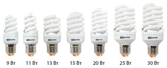 энергосберегающих ламп