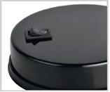 Светильник настольный на основании 2 колена 60Вт, E27 черный TDM