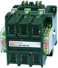 Электромагнитные пускатели серии ПМ12.  Средства коммутации и защиты электрических цепей.  Электротехника.