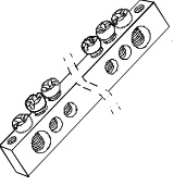 "Шина ""N"" нулевая 6х9мм  6/2 (6 групп/крепеж по краям) TDM"
