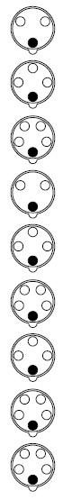 Расположение контактов вилок
