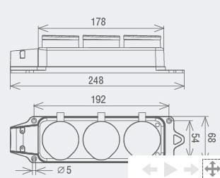 Вилка угловая с ушком каучук 2Р+РЕ 16А 250В IP44 TDM