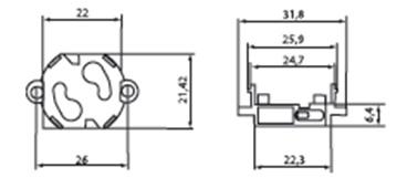 Стартеродержатель (крепление на защелки 31 мм) TDM