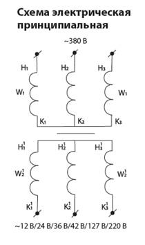 Трансформатор понижающий ТСЗИ 1,6 380; 220/ 220; 127; 42; 36 ал. TDM