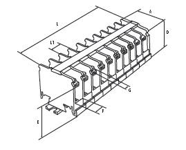 Блок зажимов наборный БЗН 20А на DIN-рейку 10 пар TDM