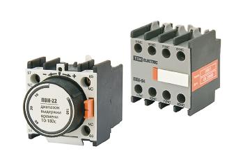 Приставки контактные серии ПКН, ПКБН, приставки выдержки времени серии ПВН
