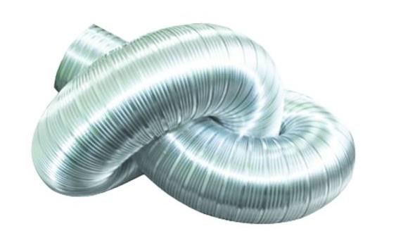 Воздуховоды гофрированный алюминиевый