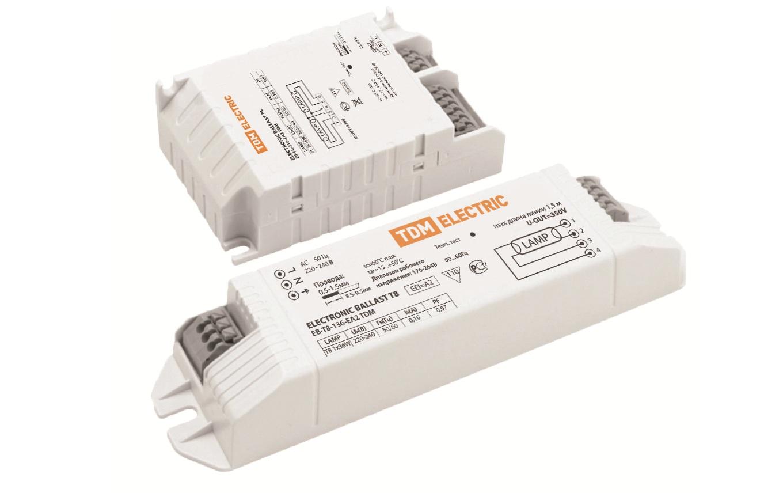 Электронные ПРА  (ЭПРА) для люминесцентных ламп типа Т8 и типа PL