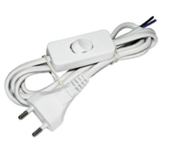 Шнур с выключателем и плоской вилкой ШУ01В