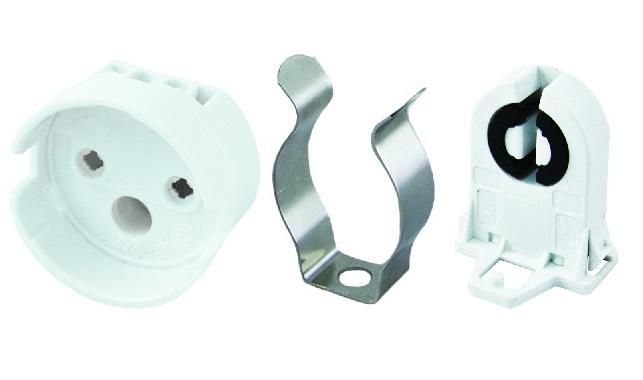 Патроны для люминесцентных ламп: G13, G5, G23; Клипсы