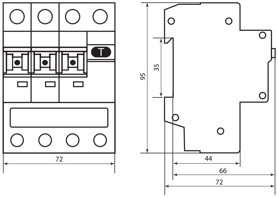 Автоматический Выключатель Дифференциального тока селективного типа АВДТ 63S C32 100мА TDM